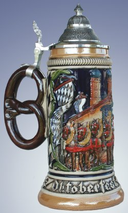 Germany Oktoberfest with Pretzel Handle LE German Beer Stein