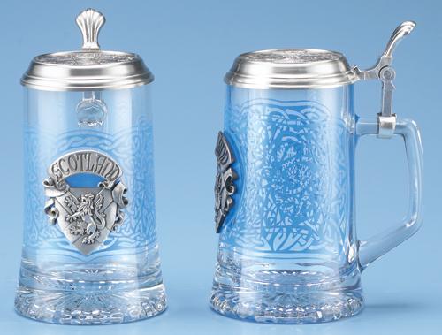 Scotland Beer Stein Glass German Beer Stein