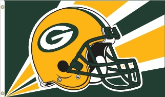 Green Bay Packers Deluxe NFL Helmet Flag
