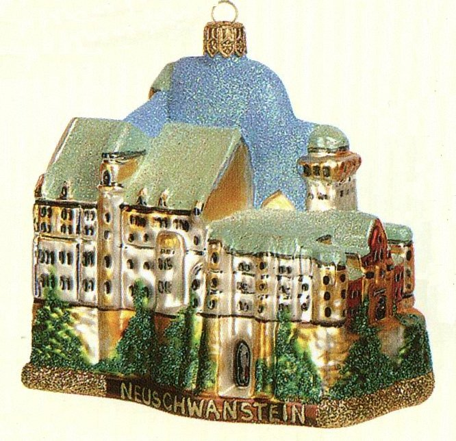 Neuschwanstein Castle Polish Glass Christmas Ornament