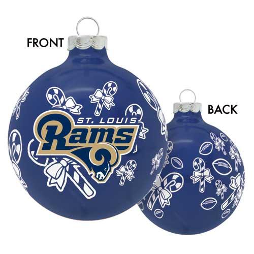 St Louis Rams Glass Christmas Ornament - St. Louis Rams