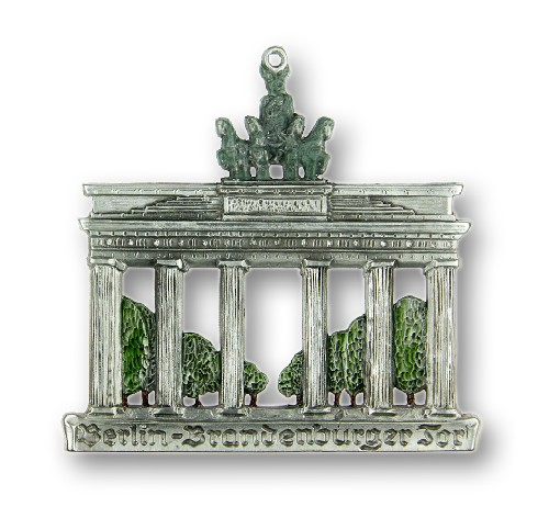Brandenburg Gate Berlin Germany German Pewter Christmas