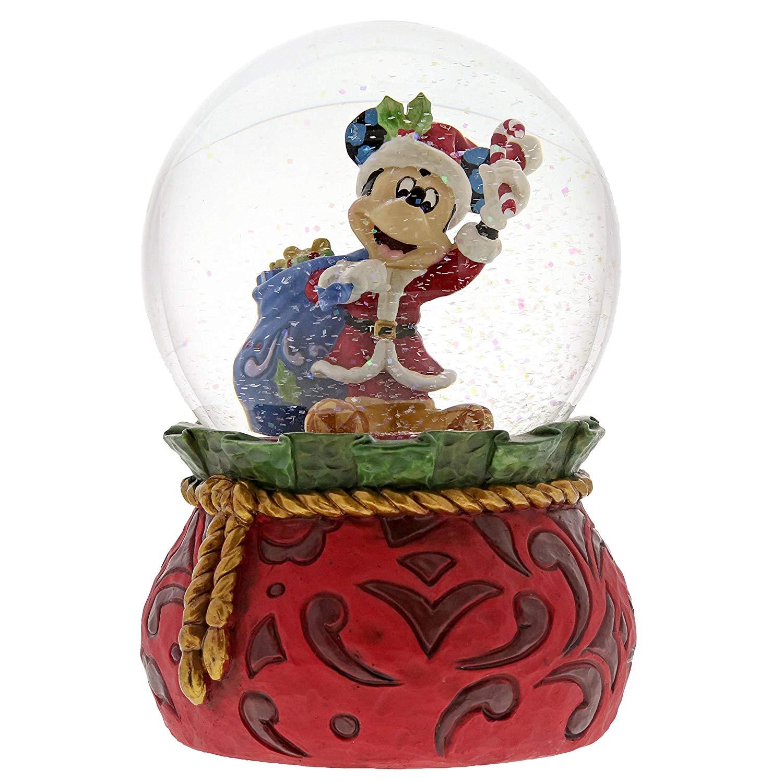 Jim Shore Disney Bringing Holiday Cheer Santa Mickey Mouse Waterball