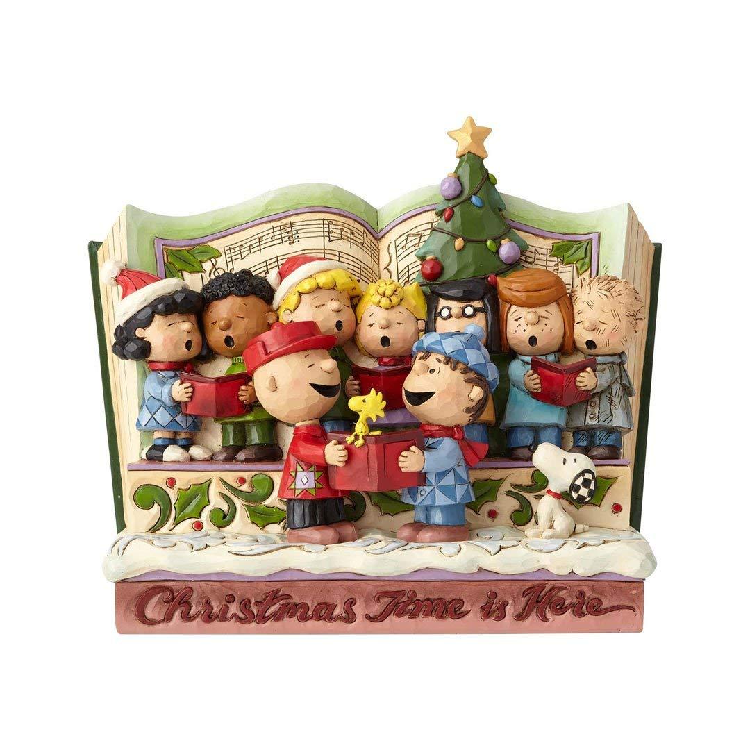 Jim Shore Peanuts Spreading Joy Christmas Time Storybook Figurine 6000983 New