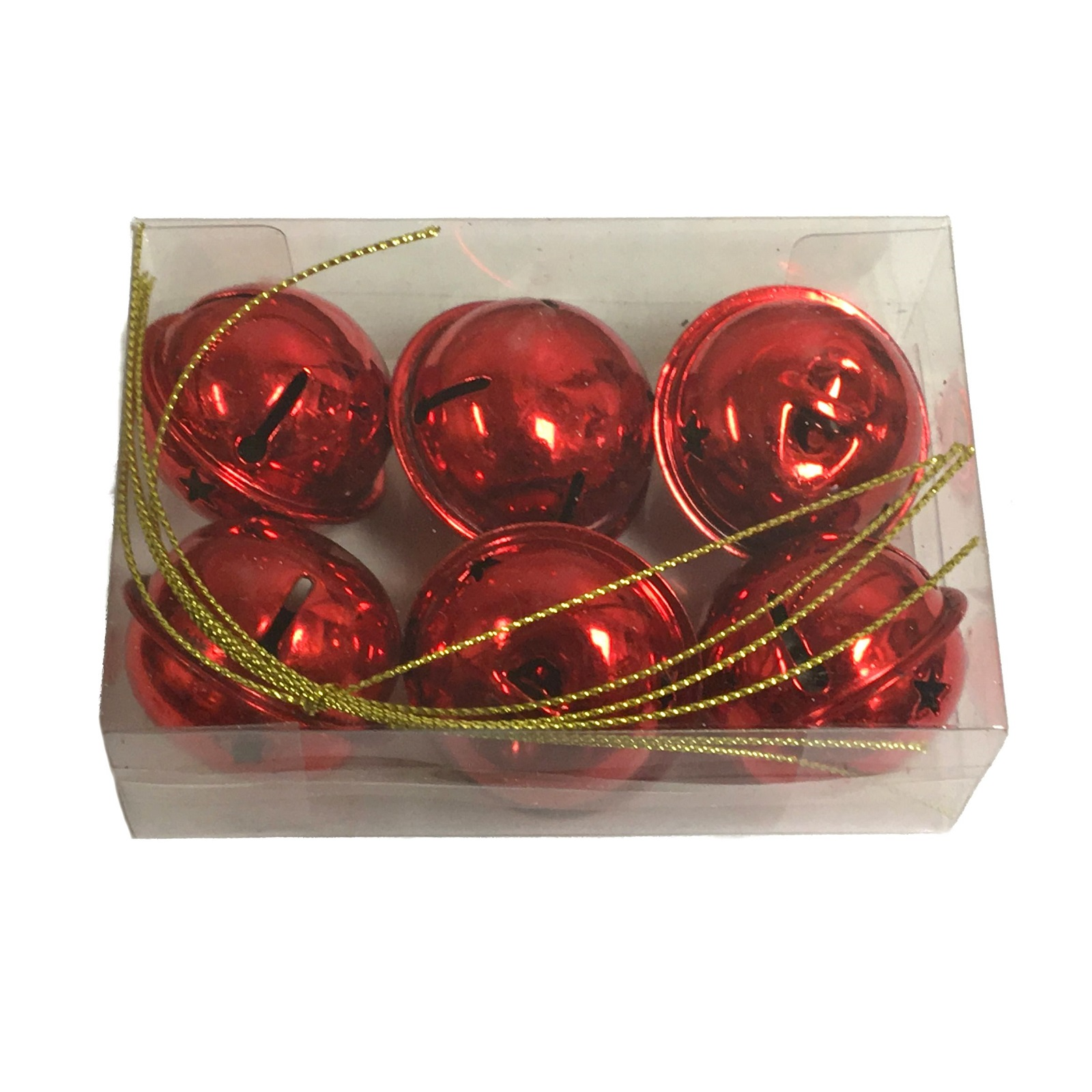Red Jingle Bells with Star Design Metal Christmas Tree ...