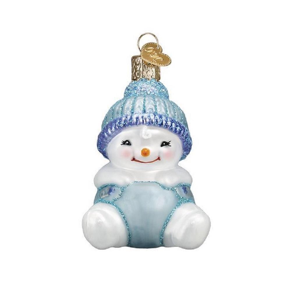 Old World Christmas Snow Baby Boy Glass Ornament FREE BOX ...