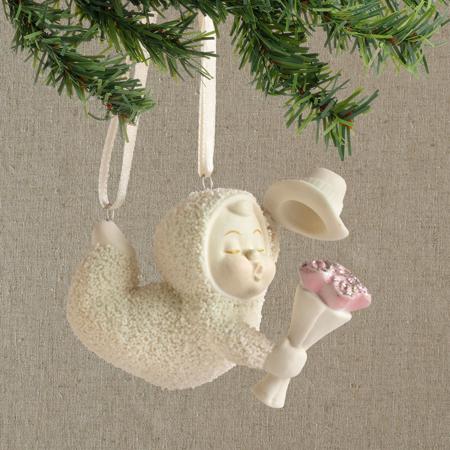 Department 56 snowbabies ornaments - Xpu32 4031792 Snowbabies The Proposal With Flowers Porcelain Christmas Ornament