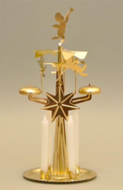 knox gold angel chimes bell roundabout metal christmas pyramid - German Christmas Pyramid Kit