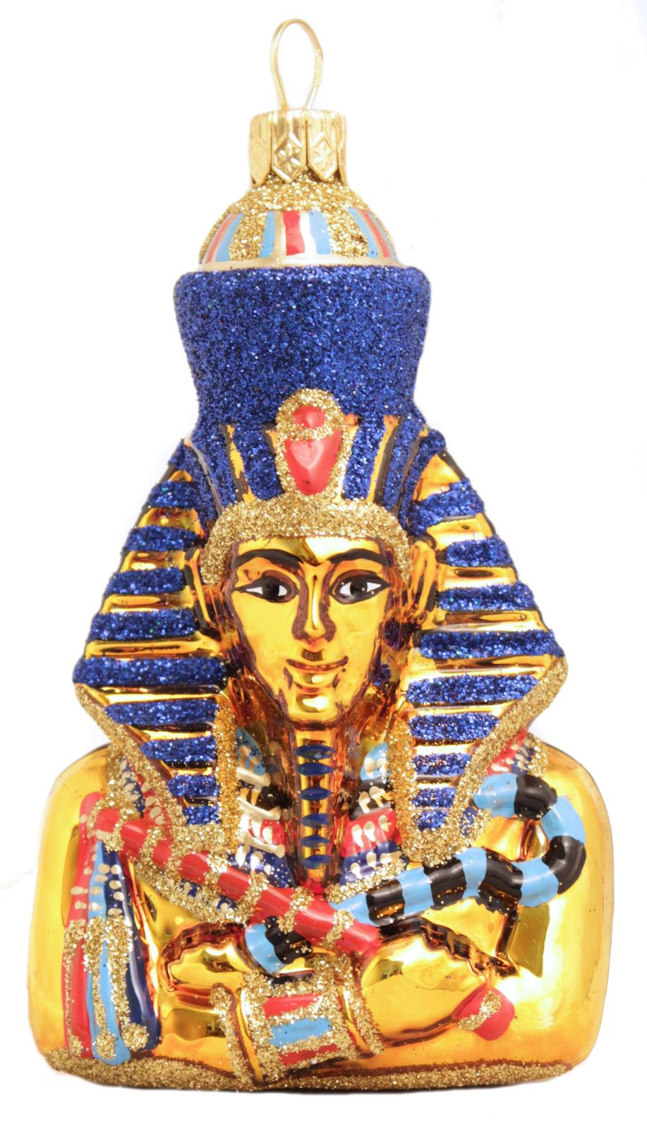 Egyptian Pharaoh Akhenaten Polish Glass Christmas Ornament ...