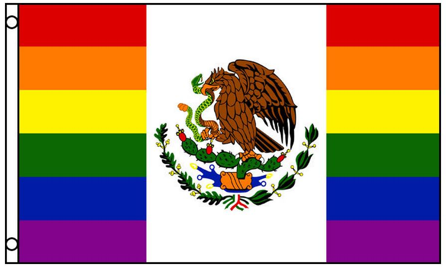 Gay pride garden flags