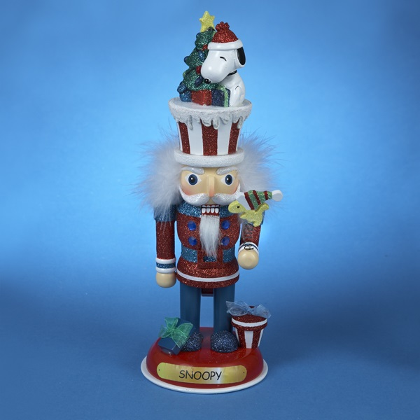 Snoopy Christmas Tree Topper: Hollywood Peanuts Snoopy And Woodstock Wooden Christmas