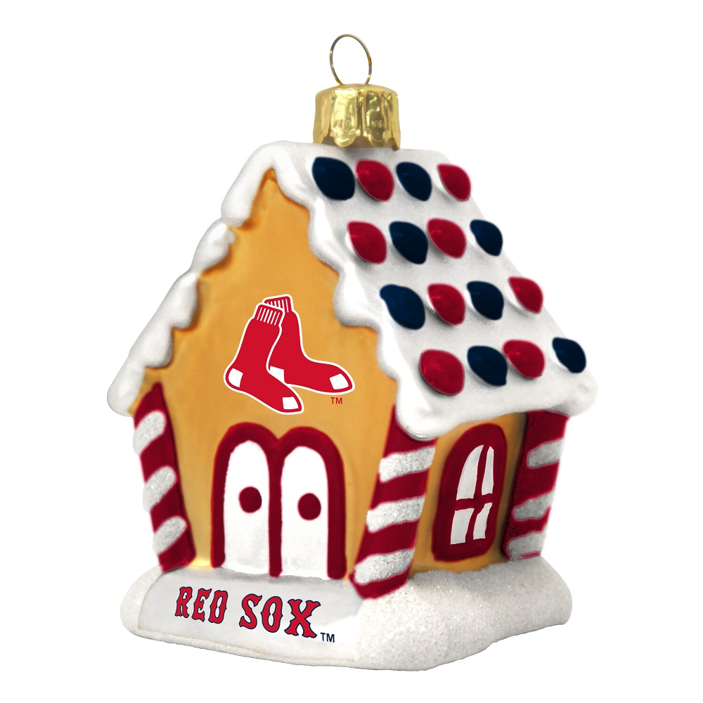 Toronto blue jays christmas ornament - Mlb Boston Red Sox Baseball Gingerbread House Glass Christmas Ornament