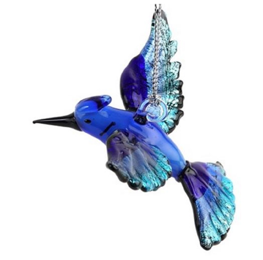 glassdelights blue jay bird glass christmas tree ornament decoration animal new ebay. Black Bedroom Furniture Sets. Home Design Ideas