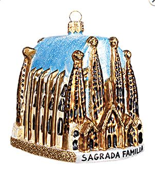 Sagrada Familia Cathedral Polish Glass Christmas Tree Ornament